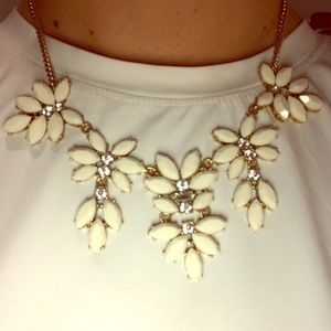 J. Crew White Statement Necklace